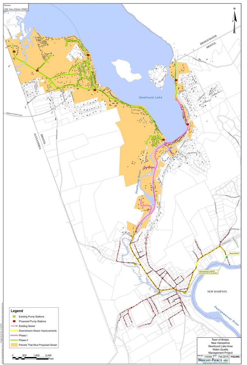 Newfound Lake Water Quality Project Map