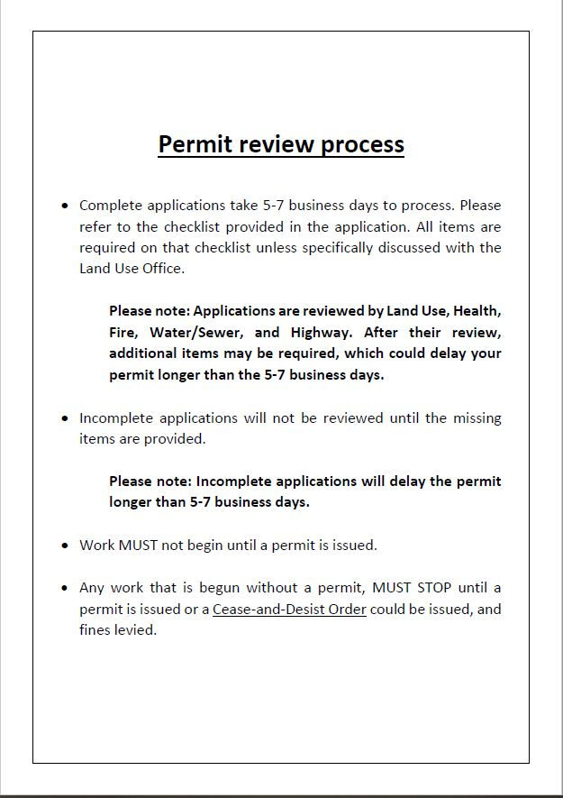 Permitting Review Process