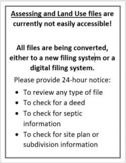 File Access requires 24 hour notice