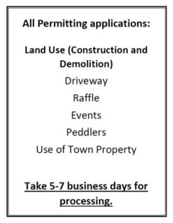 Permitting process takes 5-7 business days