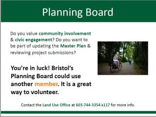 Join the Planning Board Team