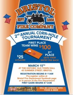 Bristol Fire Company 2nd Annual Corn-Hole Tournament