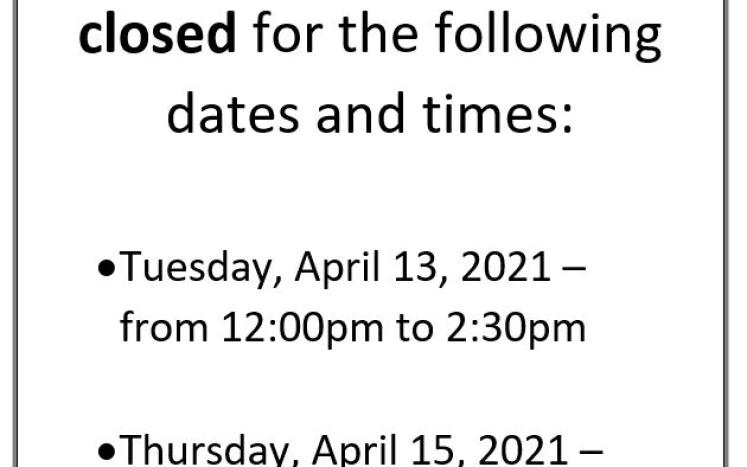 The Assessing / Land Use / Health Offices are closed Tuesday and Thursday from 12-2:30